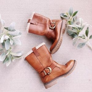 Timberlands Shearling Lined Buckle Winter Boots